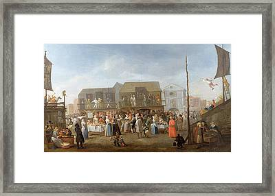 Bartholomew Fair Oil On Canvas Framed Print