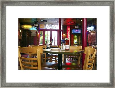 Bartime Framed Print by Kenneth Feliciano