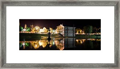 Bartlett Mall At Night Framed Print