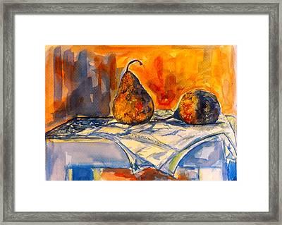 Bartlett Pears Framed Print by Kendall Kessler