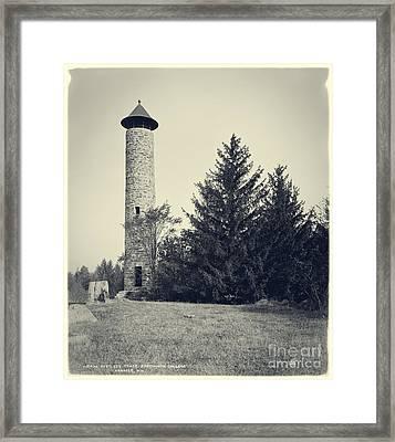 Bartlett Tower Dartmouth College Hanover Nh Framed Print by Edward Fielding