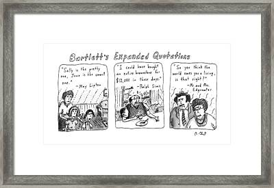 Bartlett's Expanded Quotations Framed Print by Roz Chast