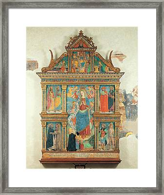 Bartolomeo De Benzi, Madonna And Angels Framed Print by Everett