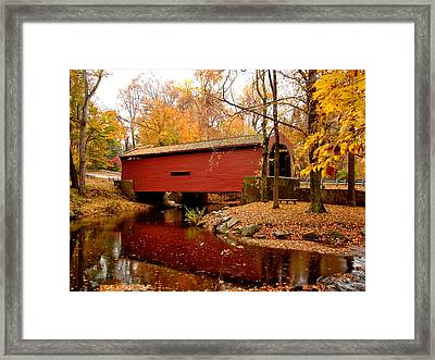 Bartram's Covered Bridge Framed Print by L Brown