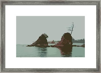 Barview Rocks Framed Print