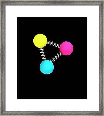 Baryon Particle Framed Print by Mikkel Juul Jensen