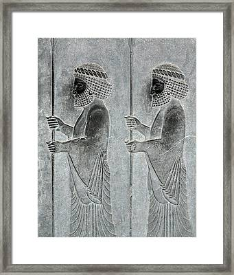 Bas-relief Framed Print