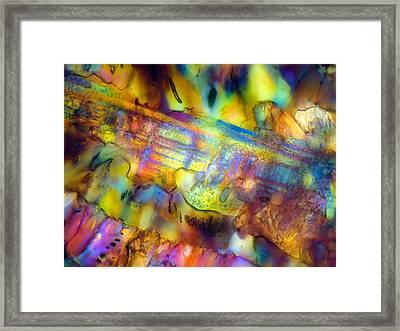 Basalt 0.16mm B 074 Framed Print by Tom Phillips