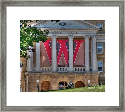 Bascom Hall-on Wisconsin Framed Print by David Bearden