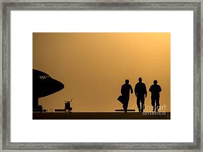 Base At Dusk Framed Print by Celestial Images