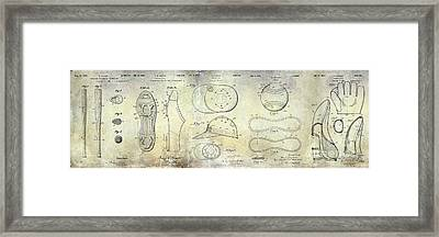 Baseball Patent Panoramic Framed Print