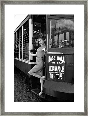 Framed Print featuring the photograph Base Ball To Day Bw Version by Jim Poulos