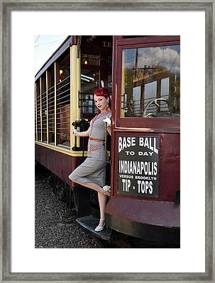 Base Ball To Day Color Version Framed Print