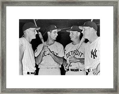 Baseall Sluggers Framed Print by Underwood Archives