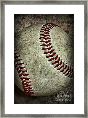 Baseball - A Retired Ball Framed Print by Paul Ward