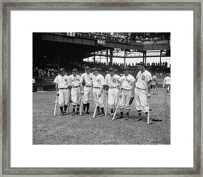 Baseball All Star Sluggers Framed Print by Underwood Archives