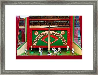 Baseball Arcade Game Framed Print by Art Block Collections