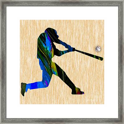 Baseball Art Framed Print by Marvin Blaine