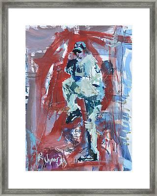 Baseball Artwork - Los Angeles Dodgers Framed Print by Robert Joyner