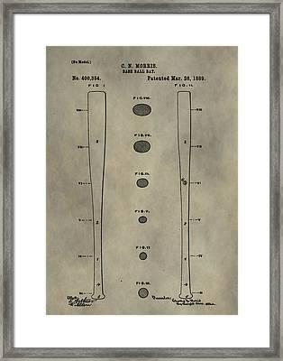Baseball Bat Patent Framed Print