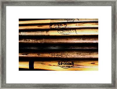 Baseball Bats Framed Print by Bill Cannon