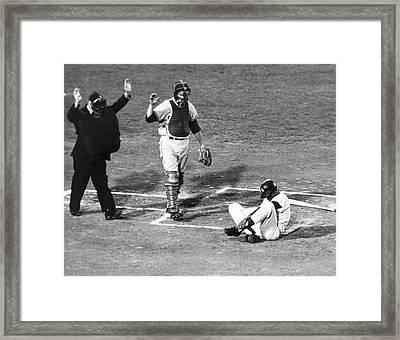 Baseball Batter Hit By Pitch Framed Print