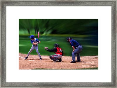 Baseball Batter Up Framed Print by Thomas Woolworth