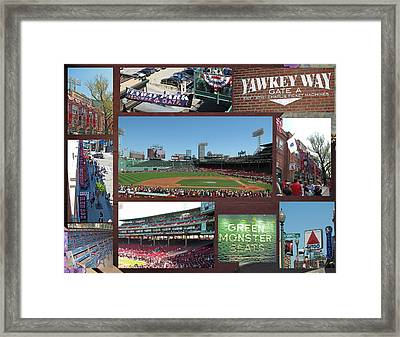 Baseball Collage Framed Print by Barbara McDevitt
