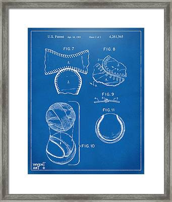 Baseball Construction Patent 2 - Blueprint Framed Print by Nikki Marie Smith