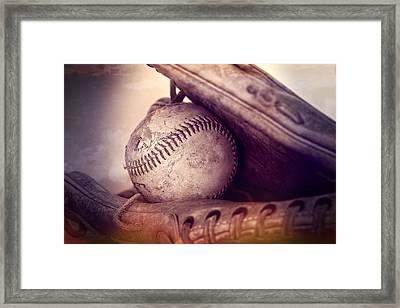 Baseball  Framed Print by Dan Sproul
