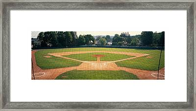Baseball Diamond Looked Framed Print by Panoramic Images
