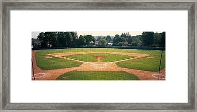 Baseball Diamond Looked Framed Print