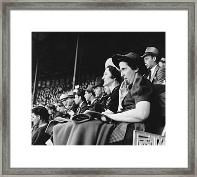 Baseball Fans At Polo Grounds Framed Print