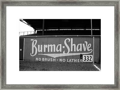 Baseball Field - Burma Shave Framed Print by Frank Romeo