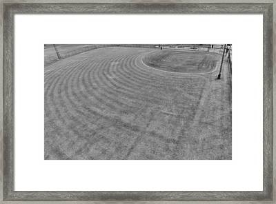 Baseball Field In Black And White Framed Print