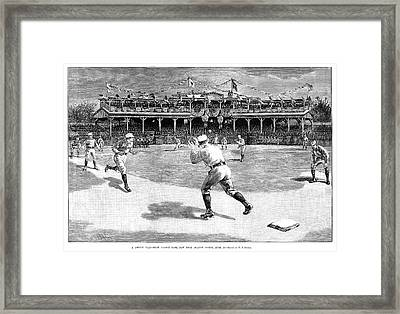 Baseball Game, 1886 Framed Print by Granger