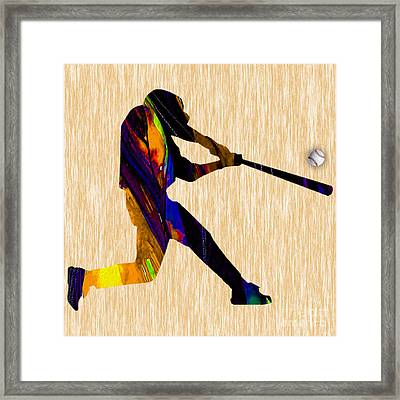 Baseball Game Art Framed Print by Marvin Blaine