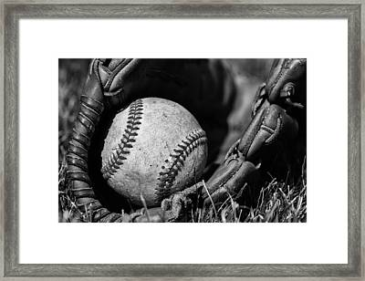 Baseball Gear Framed Print