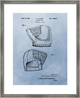 Baseball Glove Patent 2 Framed Print by Dan Sproul