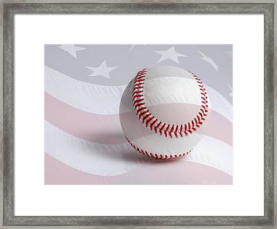 Baseball Framed Print by Heidi Smith