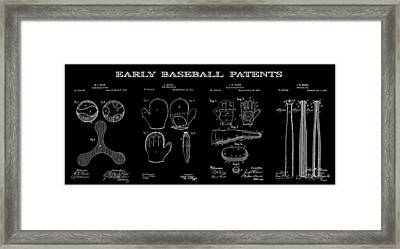Baseball History 2 Patent Art Framed Print by Daniel Hagerman