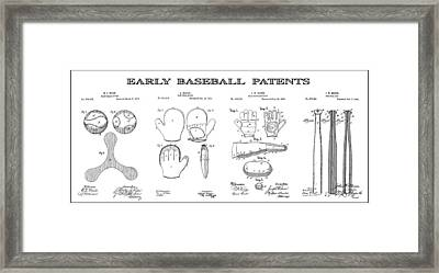 Baseball History Patent Art Framed Print by Daniel Hagerman