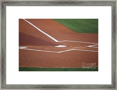 Baseball Homeplate Framed Print