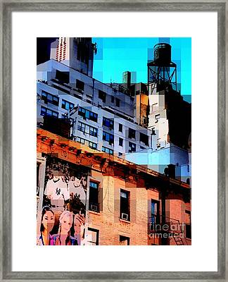 Baseball Is Coming - Watertower And Sports Poster Framed Print by Miriam Danar