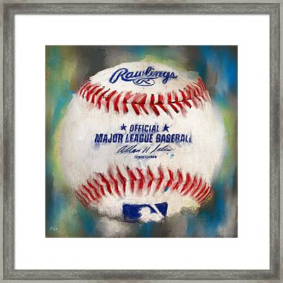 Baseball Iv Framed Print by Lourry Legarde