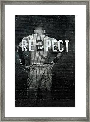 Baseball Framed Print by Jewels Blake Hamrick