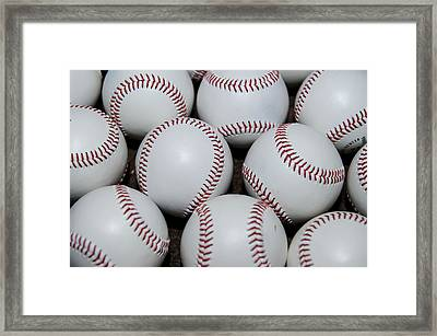 Baseball Framed Print by Malania Hammer