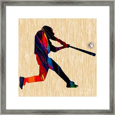 Baseball Framed Print by Marvin Blaine