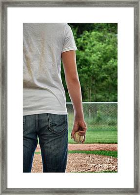 Baseball Memories Framed Print by Birgit Tyrrell