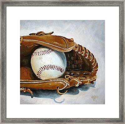 Baseball Mitt Framed Print